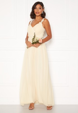 Moments New York Afrodite Chiffon Gown Champagne 38