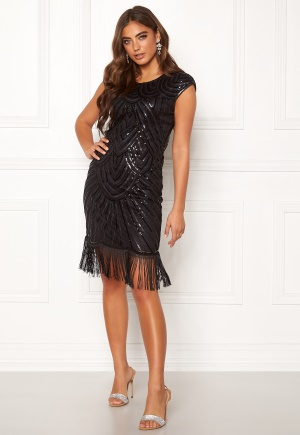 Moments New York Aida Beaded Dress Black 34