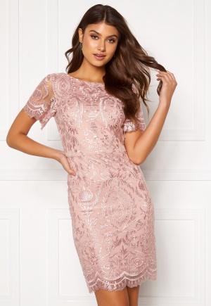 Moments New York Alexandra Beaded Dress Pink 32