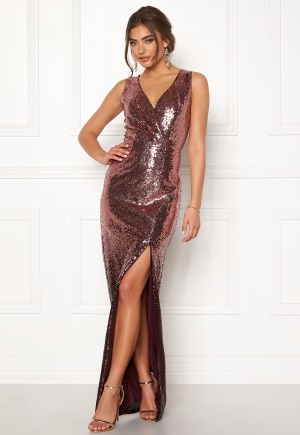 Moments New York Alicia Sequin Gown Dark red 34