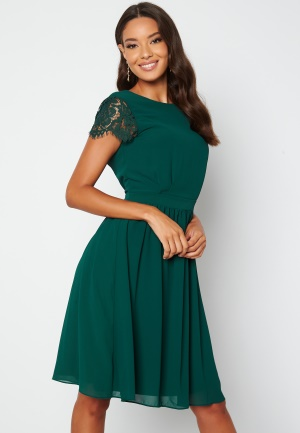 Moments New York Camellia Lace Dress Dark green 44