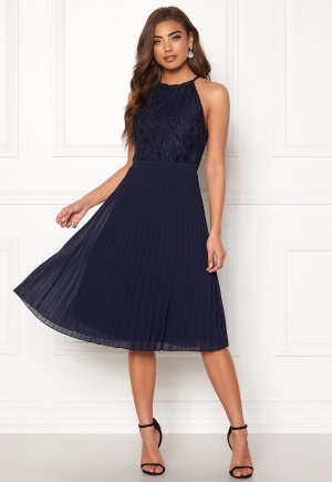 Moments New York Casia Pleated Dress Navy 40