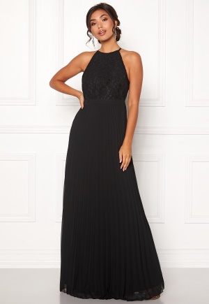Moments New York Casia Pleated Gown Black 34 Moments New