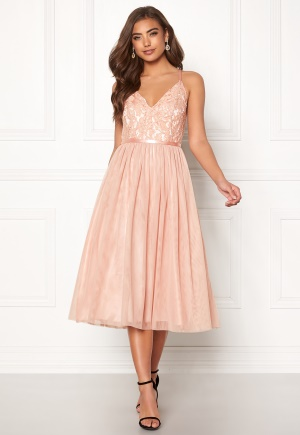Moments New York Daphne Mesh Dress Dusty pink 34