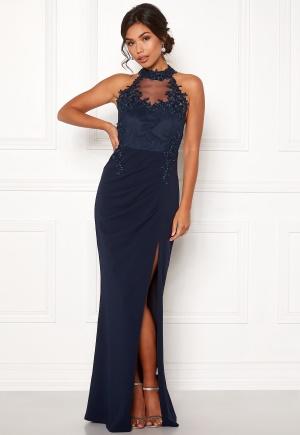 Moments New York Iris Drape Gown Dark blue 40