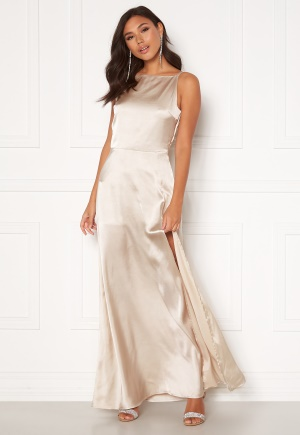 Moments New York Laylani Satin Gown Champagne 38