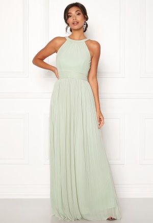 Moments New York Linnea Pleated Gown Grey-green 40