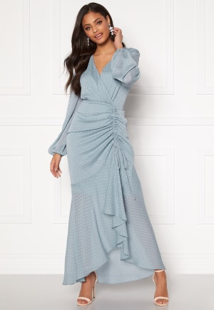 Moments New York Thea Dotted Gown Light blue 36