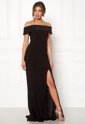 Moments New York Zahara Bardot Gown Black 40