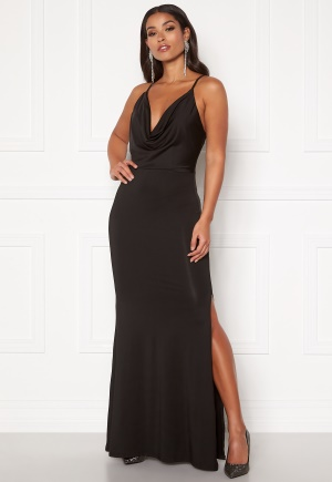 Girl In Mind Natalia Cowl Neck Maxi Dress Black L (UK14)