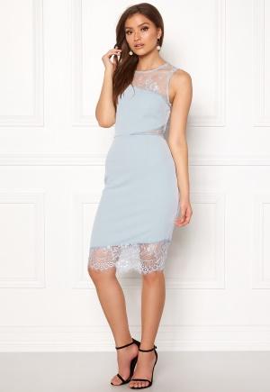 New Look Go Jen Lace Bodycon Dress Pale Blue L (UK14)