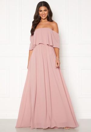 Nicole Falciani X Bubbleroom Nicole Falciani Chiffon Gown Pink 34