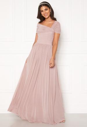 Nicole Falciani X Bubbleroom Nicole Falciani Mesh Gown Pink 40