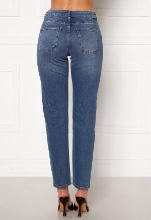 Noisy May Jenna NW Straight Jeans Medium Blue Denim 25/30