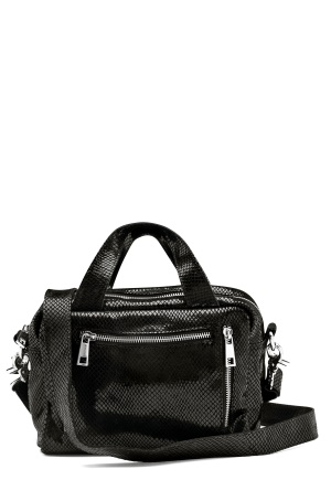 Nunoo Donna Snake Leather Bag Black w.Diamonds One size