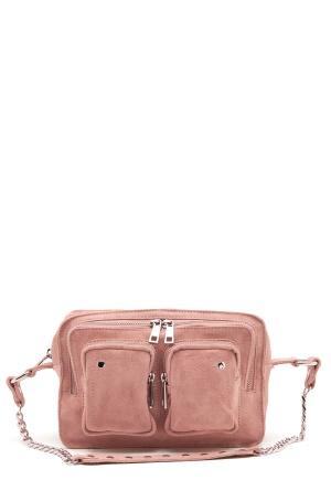 Nunoo Ellie Chain Suede Bag Rose One size