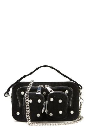 Nunoo Helena Flash Leather Bag Black w.Diamonds One size