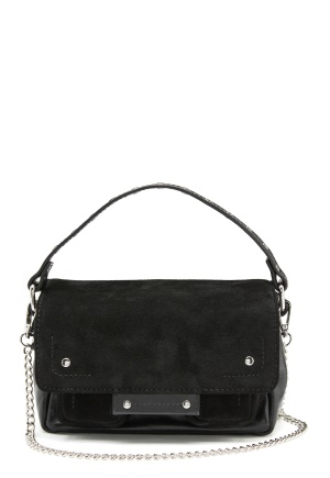 Nunoo Small Honey Suede Leather Black One size