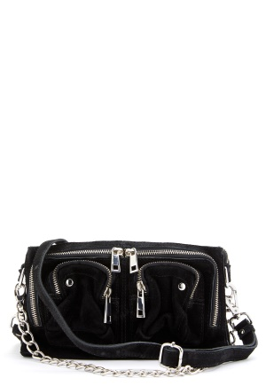 Nunoo Stine Chain Suede Bag Black One size