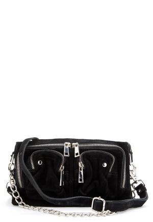 Nunoo Stine Chain Suede Bag Black One size