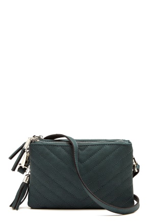 OBJECT Adelle PU Quilted Bag Forest Night One size