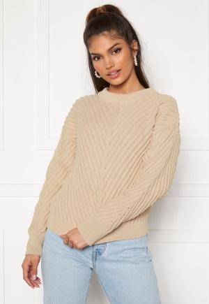 OBJECT Alexandra L/S Knit Pullover Sandshell L