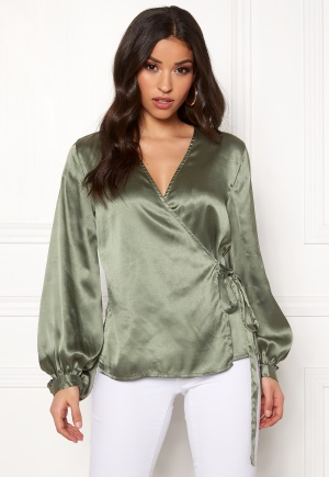 OBJECT Alina L/S Balloon Blouse Vetiver 38