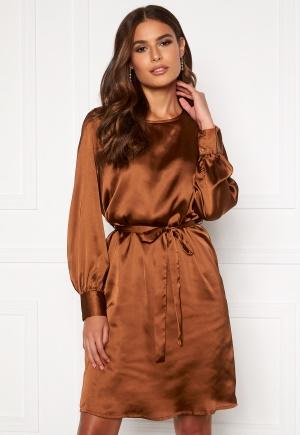 OBJECT Alina L/S Dress Brown Patina 34