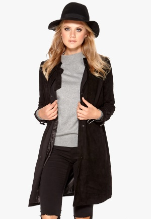 OBJECT Aura Suede Trenchcoat Black 38 thumbnail