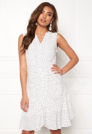 Object Collectors Item Clarissa S/L Short Dress Gardenia/Dots 34