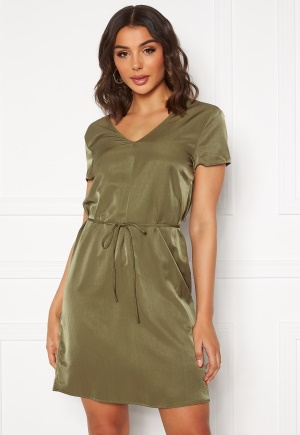 OBJECT Eileen S/S Lace Dress Burnt Olive 38