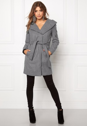 OBJECT Jolie Coat Light Grey Melange 38 thumbnail