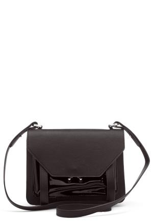 OBJECT Julia Patent Bag Black One size