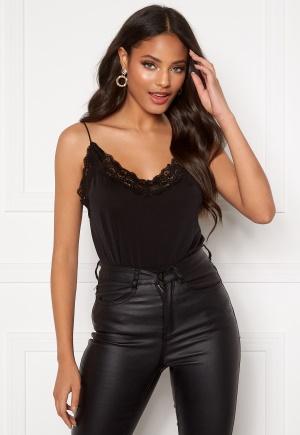 OBJECT Leena Lace Singlet Black S/M