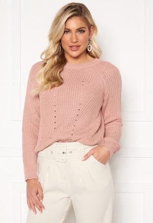 OBJECT Maya L/S Knit Pullover Misty Rose S