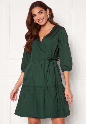 OBJECT Schinni L/S Wrap Dress Scarab 36