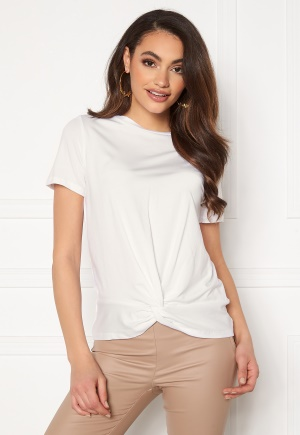 Se OBJECT Stephanie S/S Top White M ved Bubbleroom