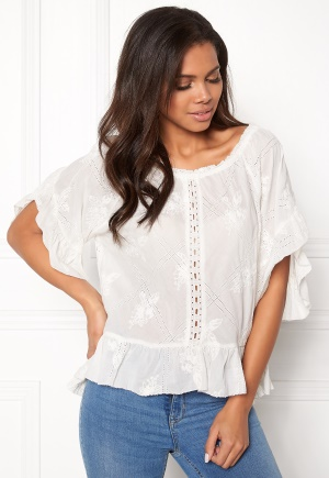 Image of Odd Molly Clever Heart Blouse Offwhite S (1)