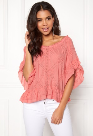 Odd Molly Clever Heart Blouse Soft Raspberry M (2)