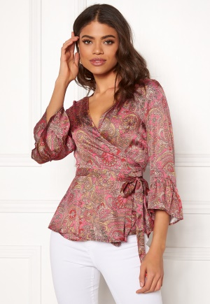 Image of Odd Molly Deep Groove Garden Blouse Hot Pink XS (0)