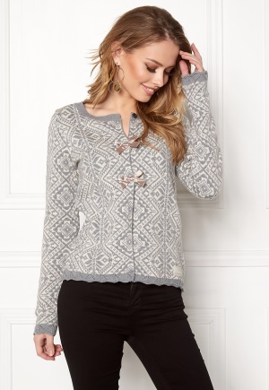 Odd Molly Good Vibrations Cardigan Grey Melange S (1)