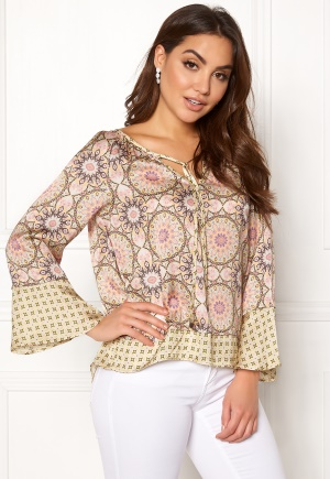 Image of Odd Molly Honey-Coated L/S Blouse Pink Porcelain L (3)