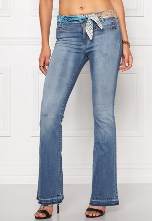 Odd Molly Janis stretch flare jeans Light blue W26