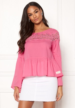 Image of Odd Molly Lacey Moves Blouse Azalea Pink S (1)