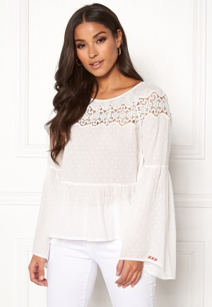 Image of Odd Molly Lacey Moves Blouse Light Chalk S (1)