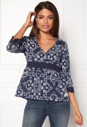 Image of Odd Molly Medley L/S Blouse Dark Blue XS (0)