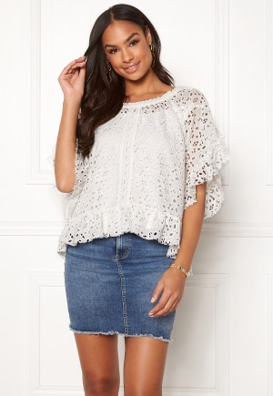 Image of Odd Molly Wing Vibes Blouse Light Chalk L (3)