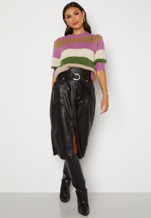 ONLY Alba Faux Leather Long Skirt Black L