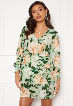 ONLY Alma Life L/S Layer Dress Lichen Big Flower L
