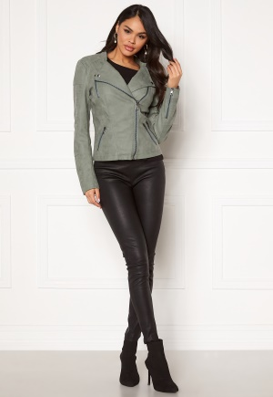 ONLY Ava Faux Leather Biker Chinois Green 40